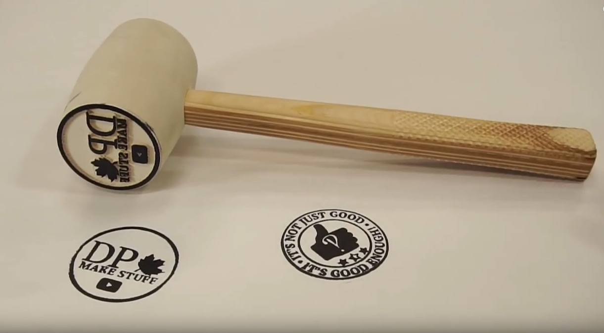 """Making a """"Stammer"""" (Stamp Hammer) Out of a Cheap Rubber Mallet"""