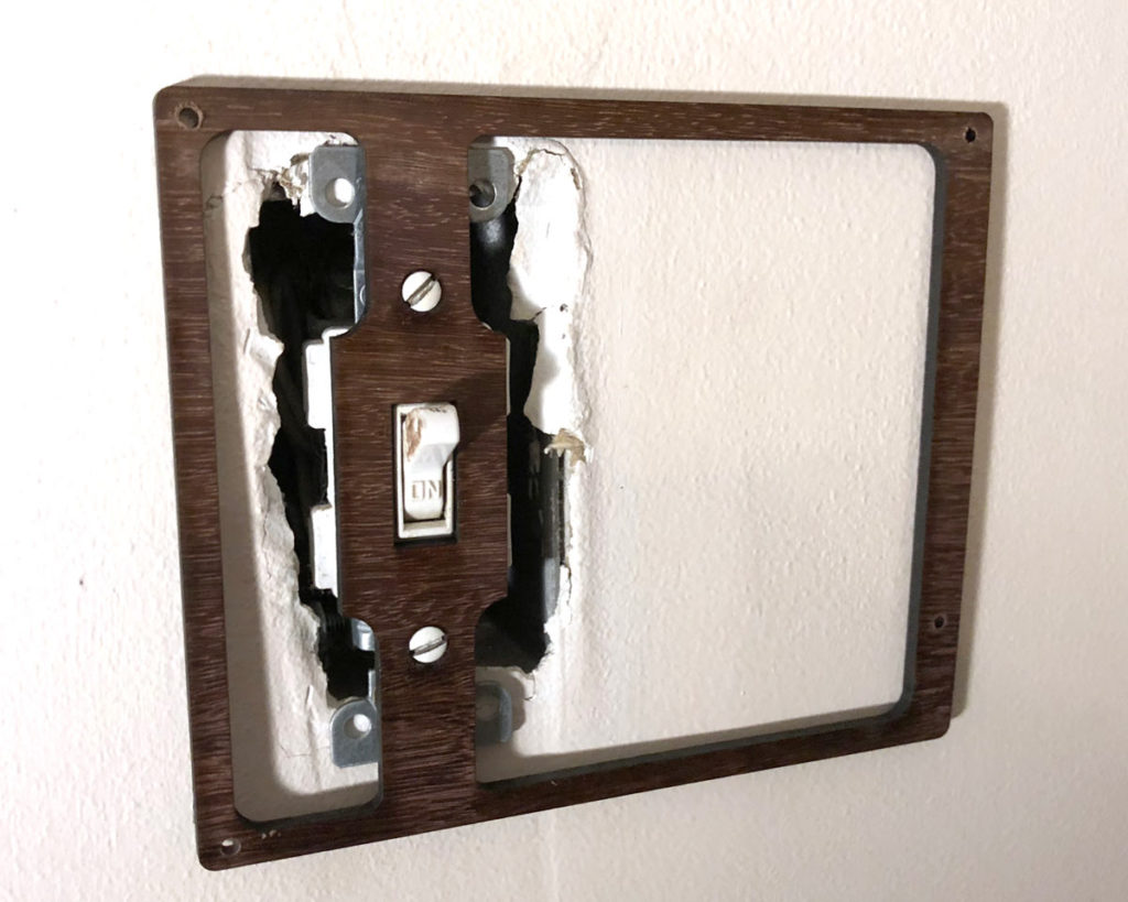 Light Switch Complicator Make 3 Faceplate Attach The New Wall Plate Sure Screws Are Flush Or Below Surface If Not Countersink Screw Holes Must