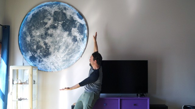 Make This Giant LED Lit Moon With Simple Tools