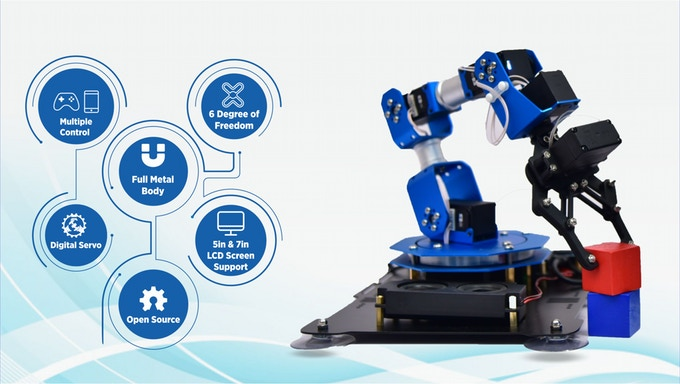 Cool Crowdfunding: Raspberry Pi Robotic Arm, Benchtop CNC, Remote Controls, and Little Bots