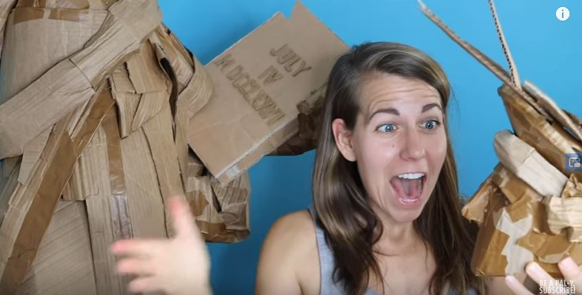 Celebrate The 4th With Ali Spagnola's Lady Liberty, Constructed From Quarantine Boxes