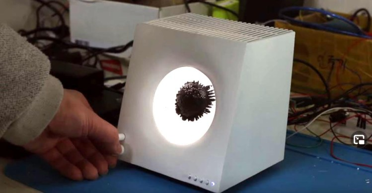 We Can't Stop Watching This DIY Ferrofluid Bluetooth Speaker