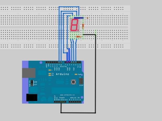 Drive a 7-Segment LED with an Arduino
