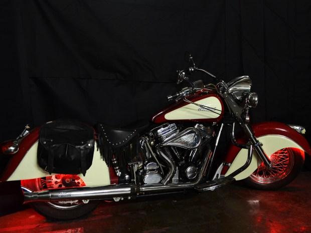 EZ-EL Wire Red Vintage Motorcycle