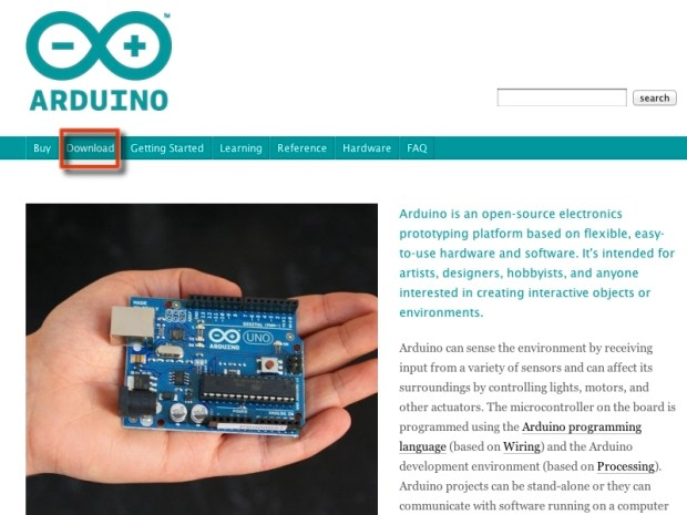 Installing the Arduino Environment