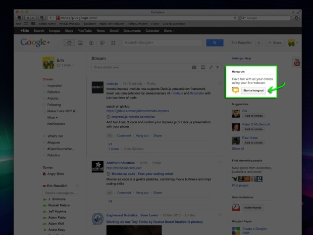 Google+ Hangout & Stream