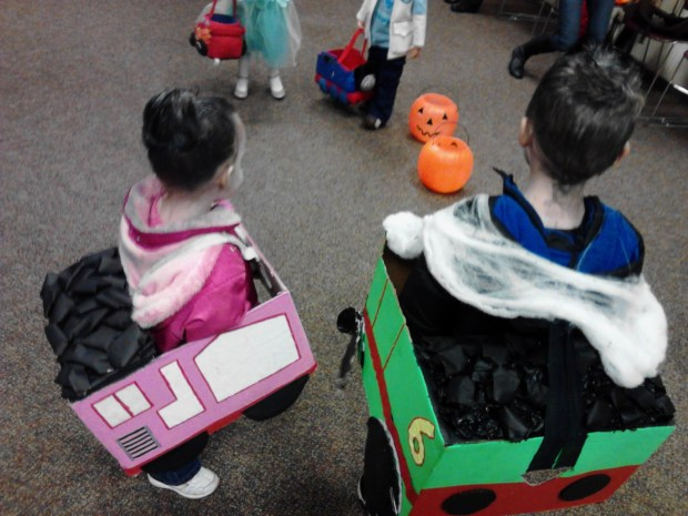 Thomas the Train Costumes (Percy and Rosie)