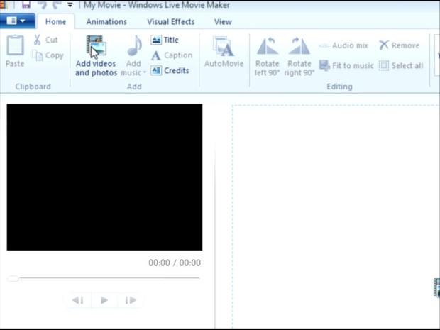 Create Video in Windows Movie Maker