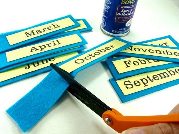Perpetual Button Calendar
