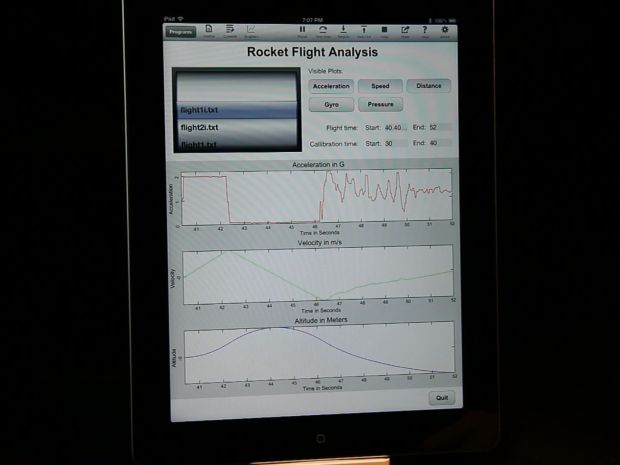 iPhone Flies on a Rocket: Collect and Analyze Data!