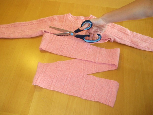 Felted Sweater Scarf
