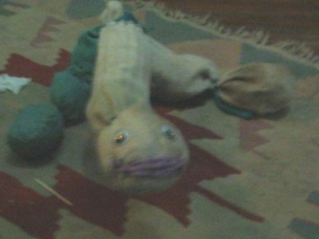 String Puppet from Three Socks
