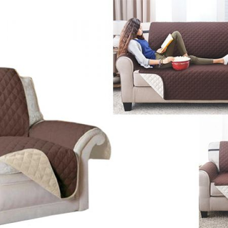 reversible couch cover sofa protector chocolate brown