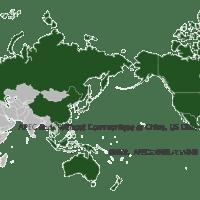 APEC加盟国の地図