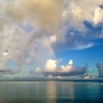 虹の中のヨガ