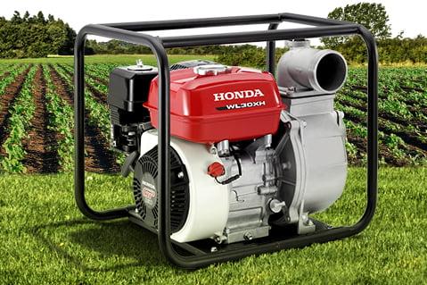 Motobomba Honda, Bomba de Agua a Gasolina WL30XH. Bomba de Achique