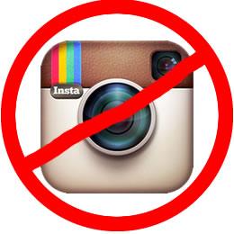 no instagram