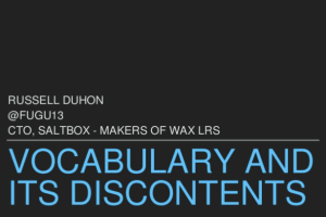 Vocabulary & Its Discontents by Russell Duhon
