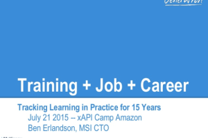 Training+Job+Career: Tracking Learning in Practice for 15 Years by Ben Erlandson