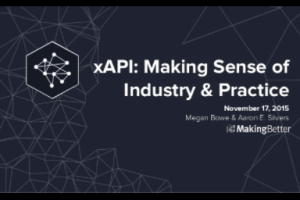 Making Sense of Industry and Practice with xAPI by Aaron Silvers