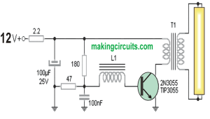 40 watt Fluorescent Emergency Lamp Circuit