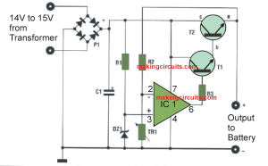 Automatic 12V Battery Charger Circuit