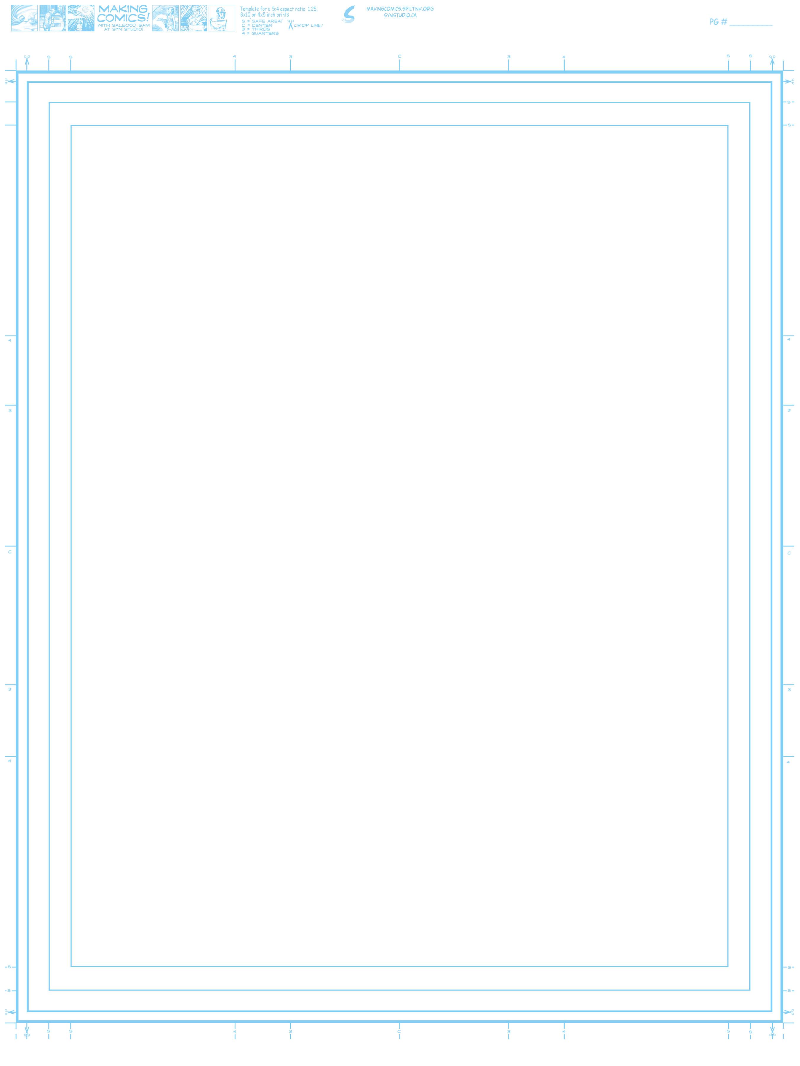 Page Aspect Ratios Amp Templates Making Comics