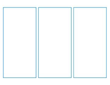 Three panel layout