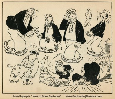 Popeyes How to Draw Cartoons by Joe Musial from 1939