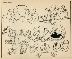Popeyes How to Draw Cartoons by Joe Musial from 1939-17