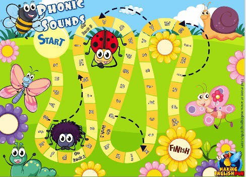 Board games – Phonics, Onset, ABC, Blends vowels and Digraphs – Ladybug theme