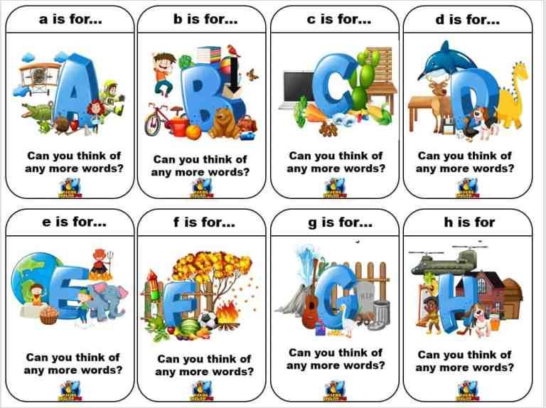 Alphabet Card Games