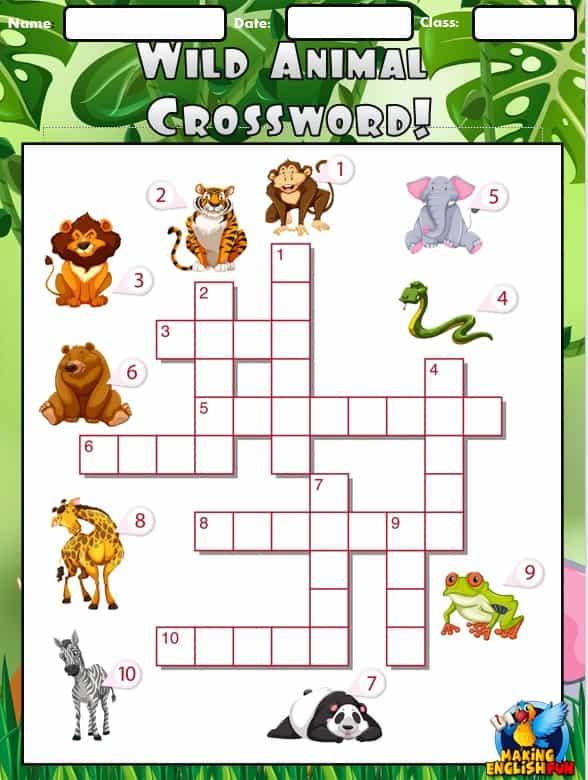 Animal Crossword (Wild)
