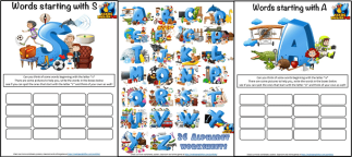 ABC alphabet Beautiful Worksheets A-Z