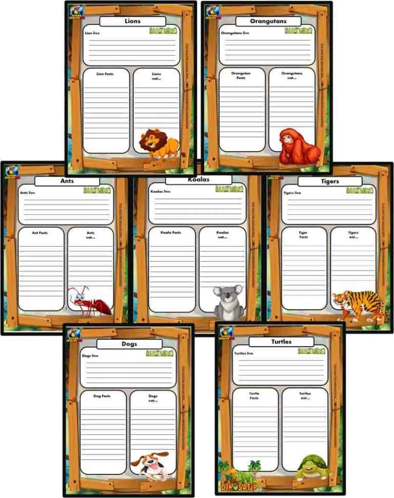50+ Animal Writing cards for ESL and Primary students.