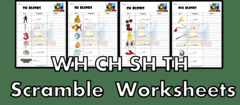 Digraph Scramble WH-CH-Sh-TH –  Worksheets