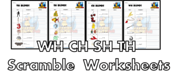 Digraph Scramble phonics Worksheets