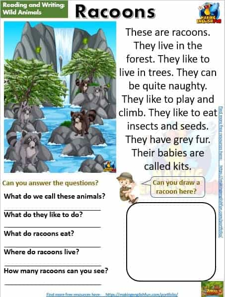 FREE guided reading worksheets and readers skunk