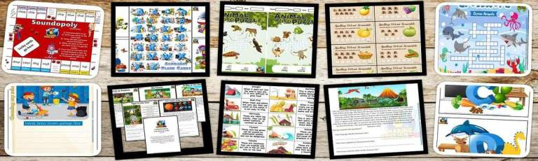 100 + Free CVC Worksheets, Activities and games.