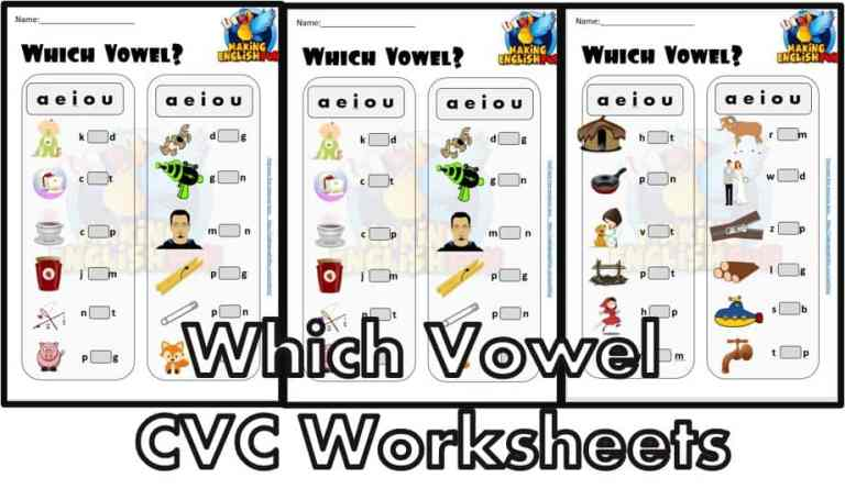 Which Vowel – CVC Worksheets