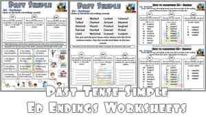 Three Free regular Past Tense Worksheets