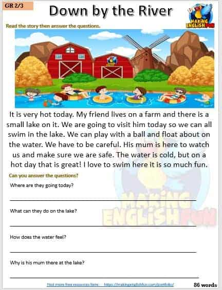 FREE Reading and Comprehension Grade 3 Worksheets
