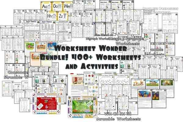 Worksheets Wonder 400 phonics worksheets