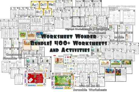 Worksheets Wonder 400 phonics worksheets