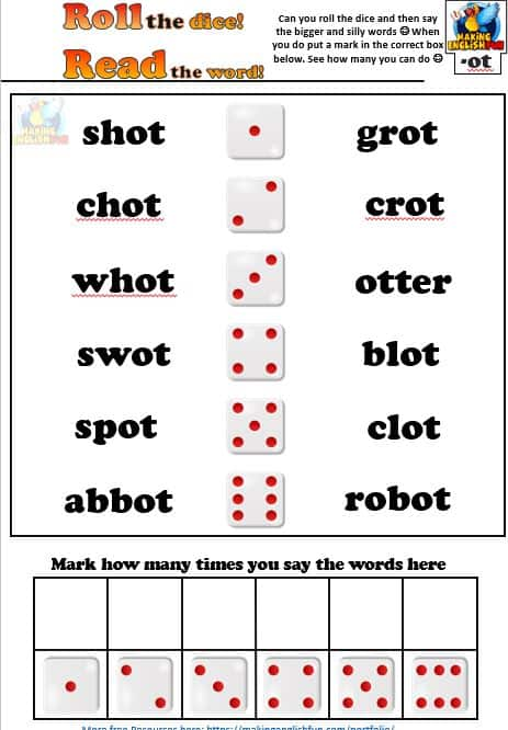 Short vowel Phonics Worksheets short O activity