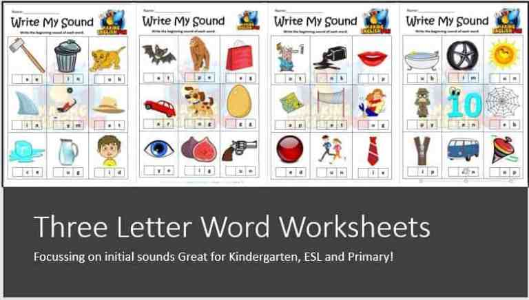 Write my Sound – Initial SOund Worksheets