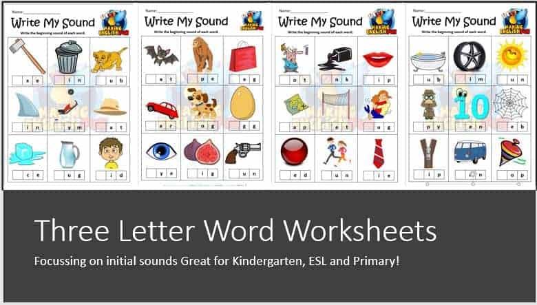 Missing Vowel Worksheet Free