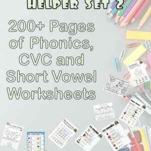 Short Vowel CVC Worksheet