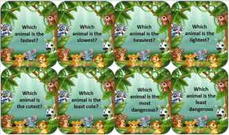 Animal antics superlative questions