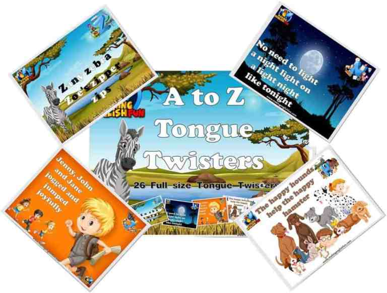 26 A to Z Alphabet  Tongue Twisters